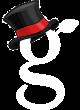 G logo NY top hat white